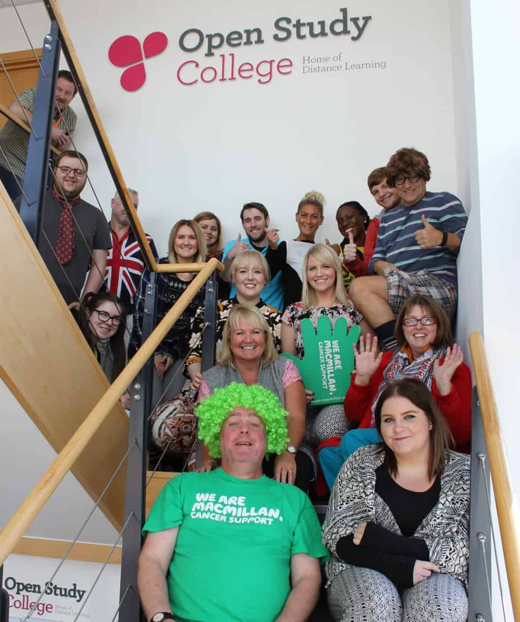Image of Open Study College raises £50,000 for Macmillan Cancer Support