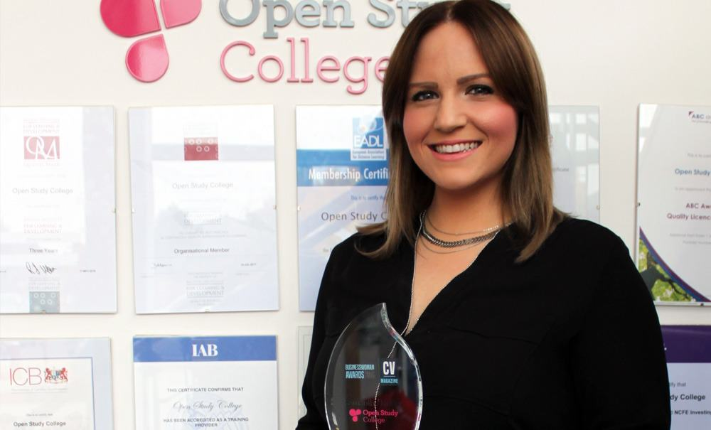 Image of Open Study College co-founder triumphs at the Businesswomen Awards