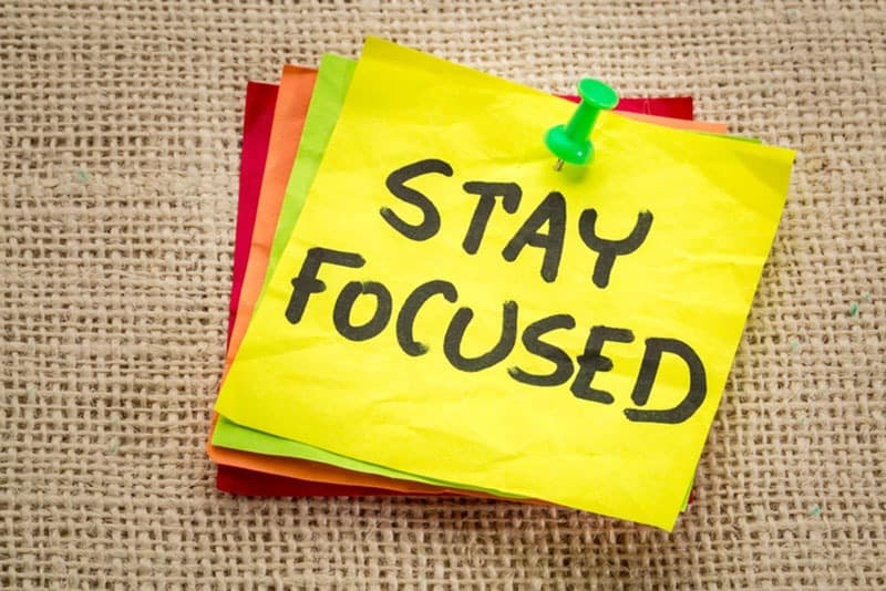 Image of 3 Simple steps to help you stay focused in 2017