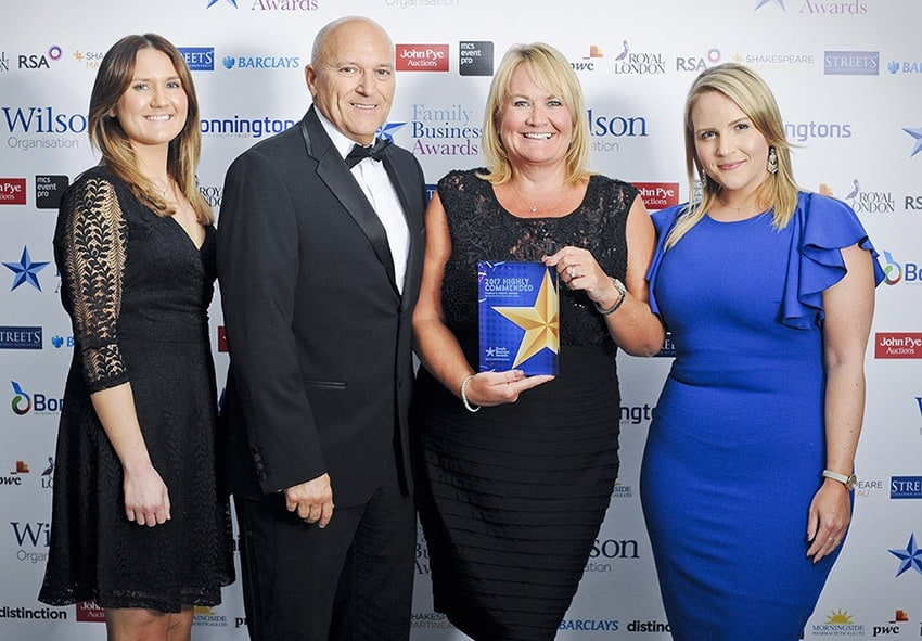 Image of OSC highly commended at the Midlands Family Business Awards