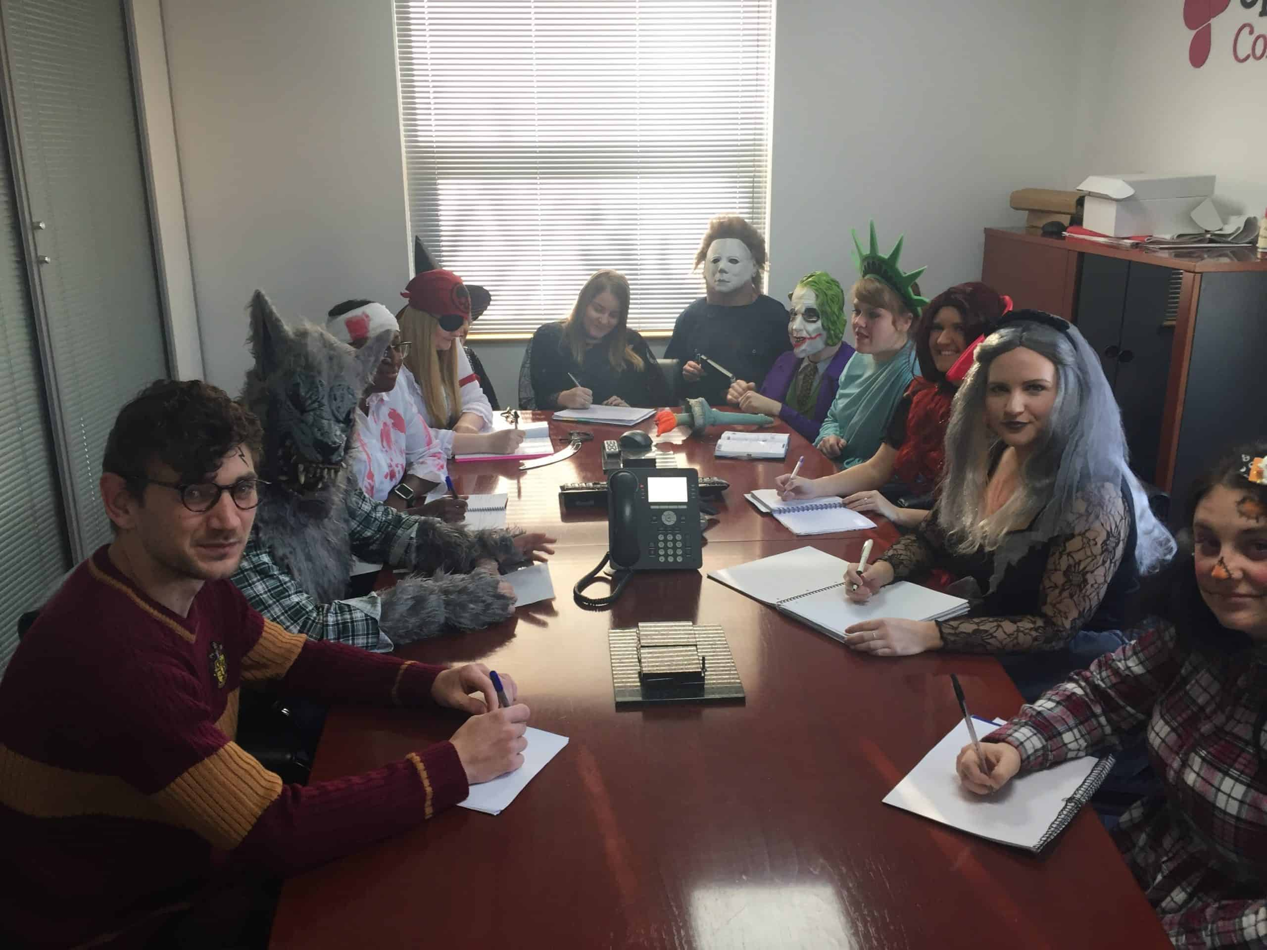 Image of Open Study College raise funds for Cancer Research UK with Halloween fun day