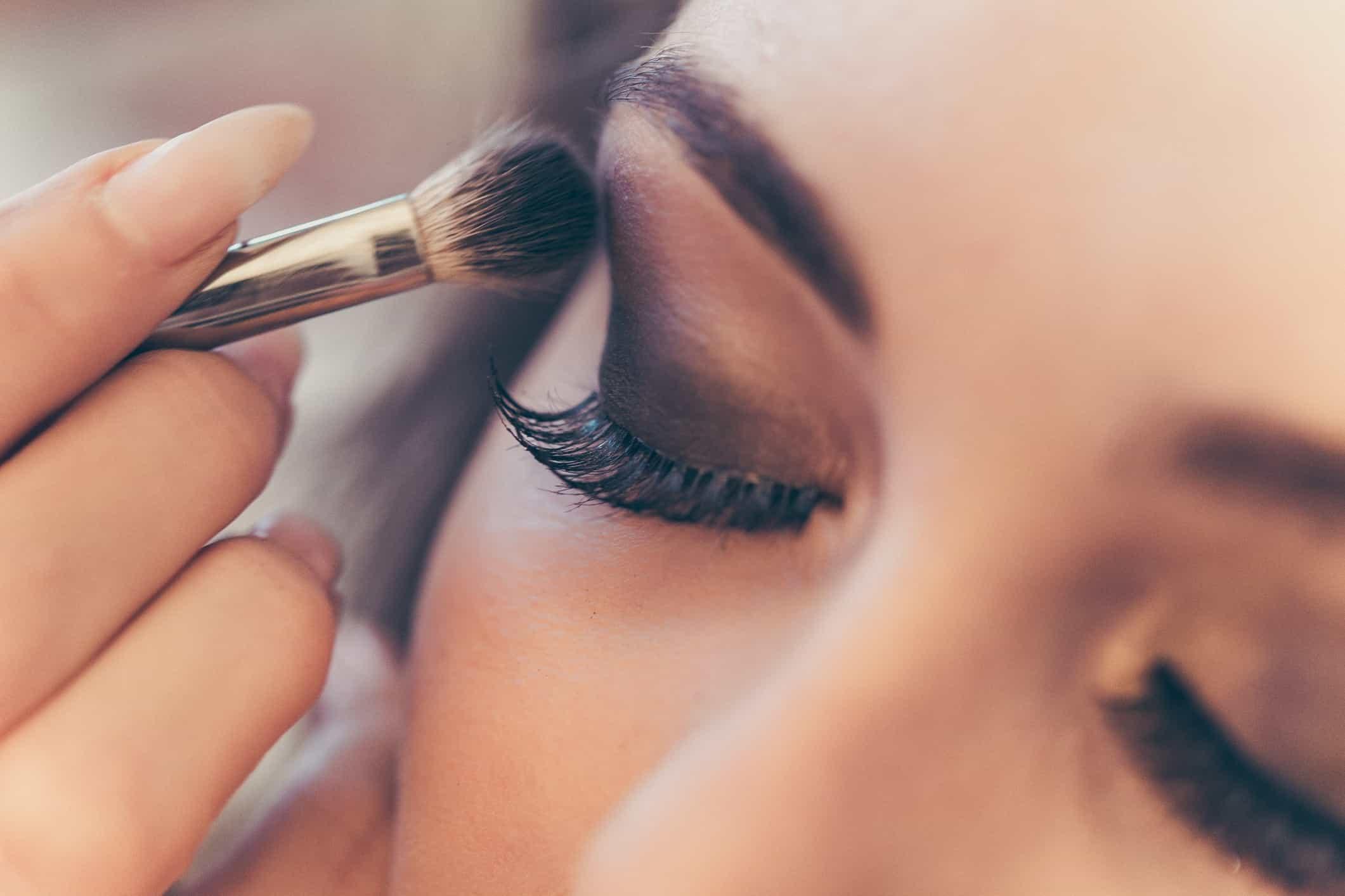 Image of Make-up artist demonstration at our Pop-Up at Link Street, Bullring
