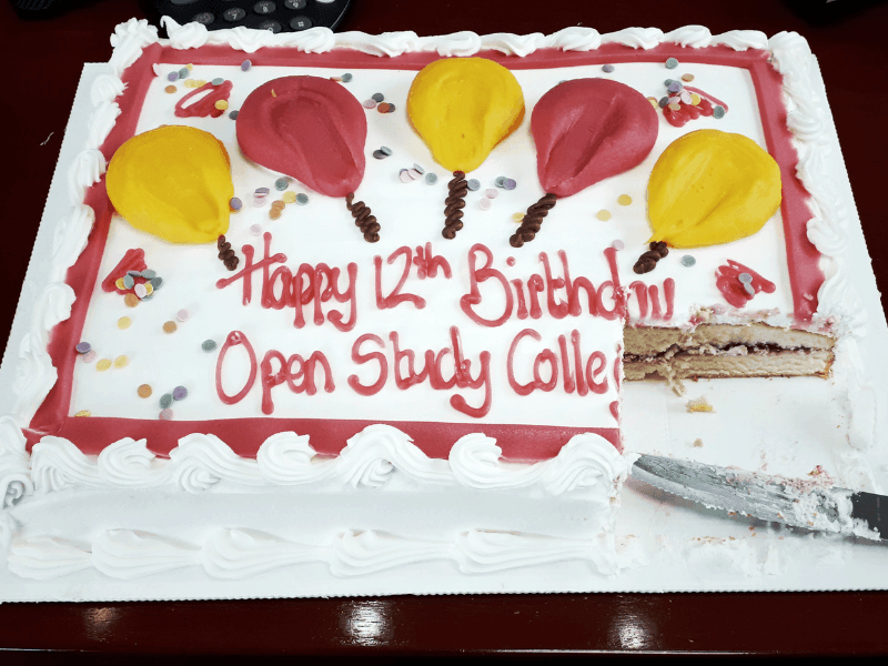 Image of Happy 12th Birthday to Open Study College!