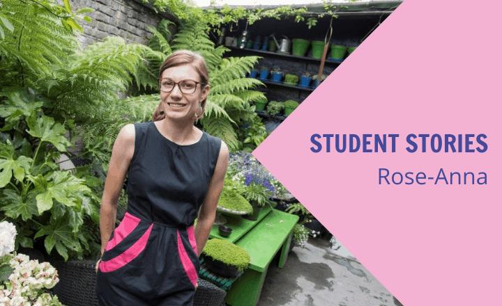 Image of Rose-Anna studies alongside running her own business